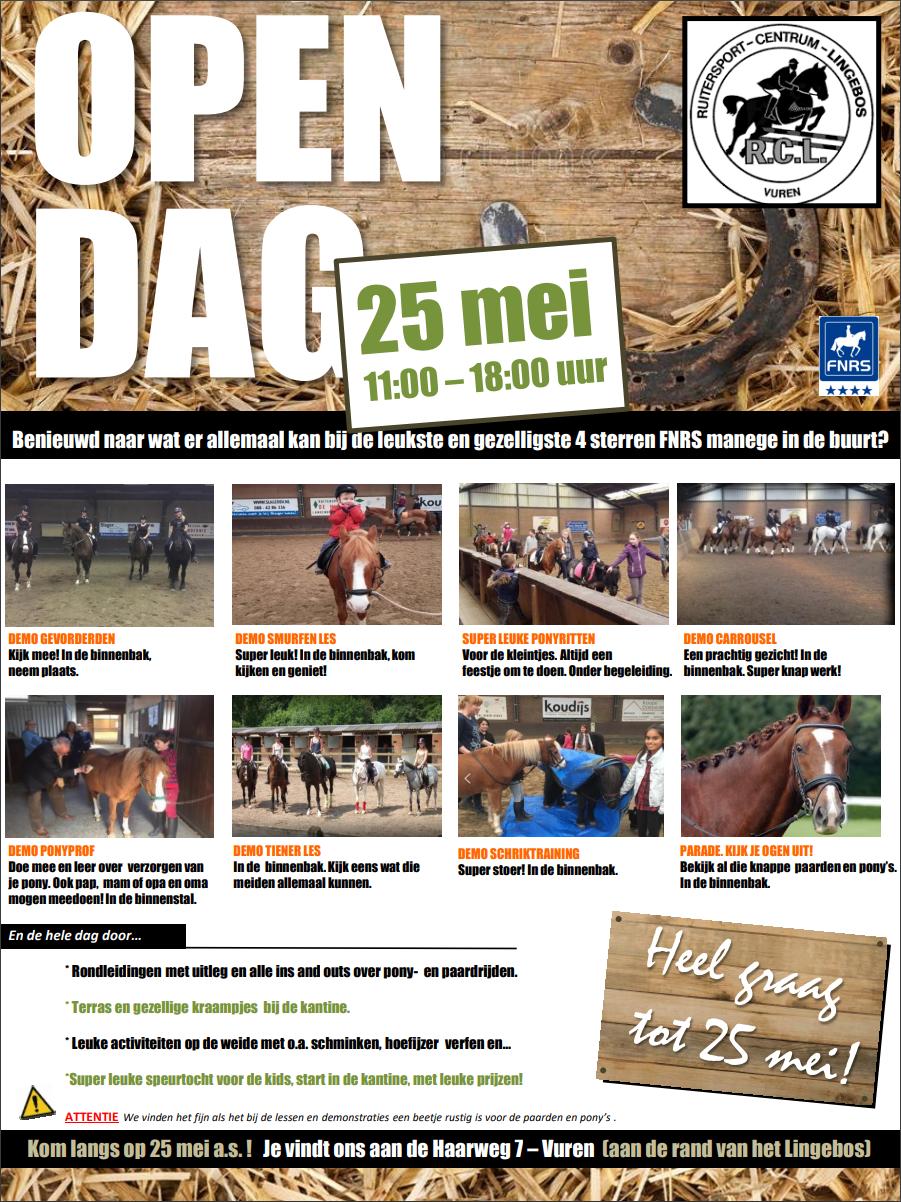 Open Dag manege 25 mei 2019